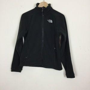 North Face Authentic Black Zip Up Fleece